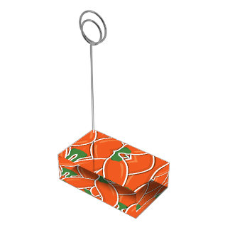 Funky orange chilli peppers table card holders