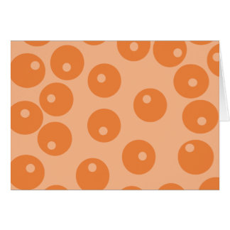 Funky orange retro pattern cards
