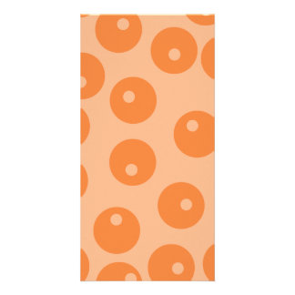 Funky orange retro pattern. photo cards