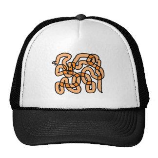 Funky Orange Snake Design Mesh Hats