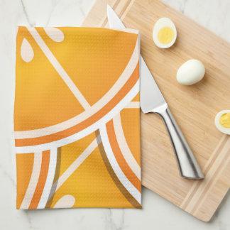 Funky orange wedges towel