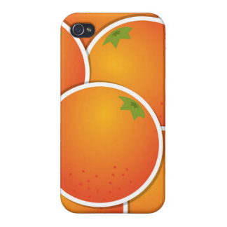Funky oranges iPhone 4/4S cases