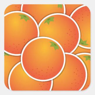 Funky oranges square sticker