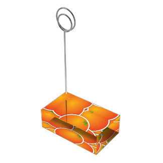Funky oranges table card holders