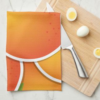 Funky oranges towel