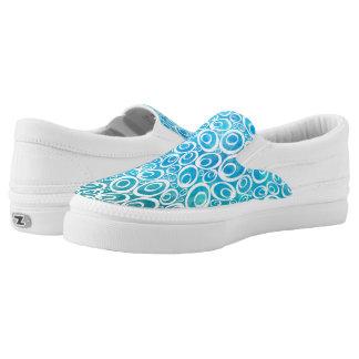 Funky Ovals - aquamarine Z slipons Printed Shoes