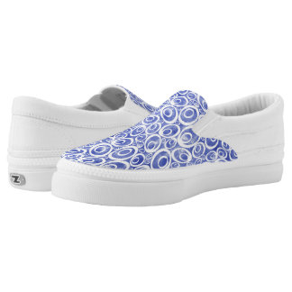 Funky Ovals - dreamy blue Z slipons Printed Shoes