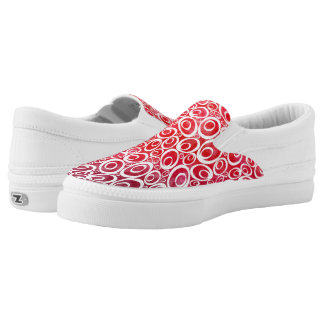 Funky Ovals - love me reds Z slipons Printed Shoes