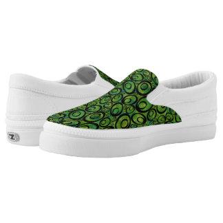 Funky Ovals - meanie greenies Z slipons Printed Shoes