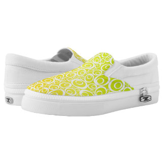 Funky Ovals - mellow yellow Z slipons Printed Shoes