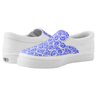 Funky Ovals - watercolor blues Z slipons Printed Shoes