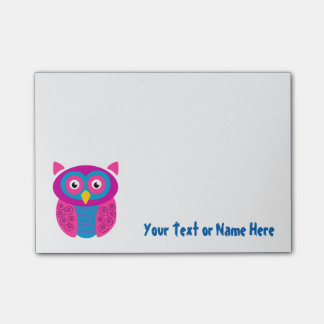 Funky Owl Sticky Notes