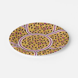 Funky passion fruit 7 inch paper plate