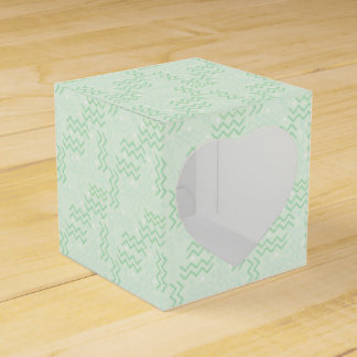 Funky Pastel Green Memphis Design Favour Box