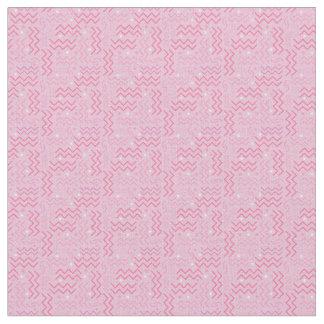 Funky Pastel Pink Memphis Design Fabric