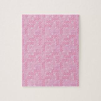 Funky Pastel Pink Memphis Design Jigsaw Puzzle