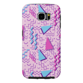 Funky Pastel Pink Memphis Design Samsung Galaxy S6 Cases