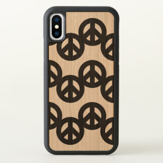 Funky Peace Sign Pattern iPhone X Case