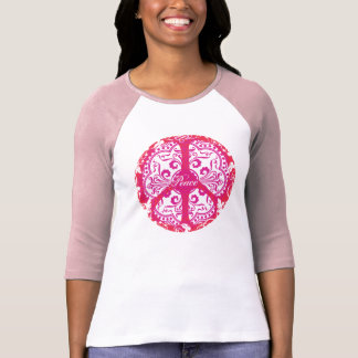 Funky Peace Sign - Pink T-Shirt