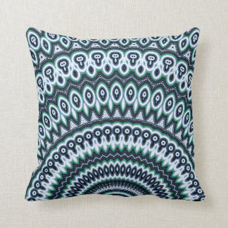 Funky Peacock Mandala pattern pillow cushion