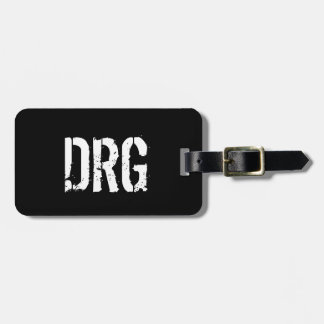 Funky Personalized Luggage Tag in Black and White