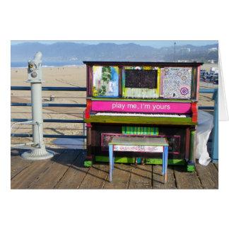 Funky Piano Greeting Card! Card