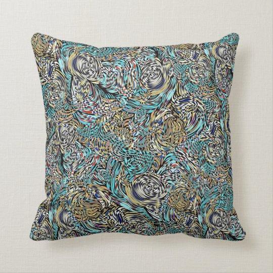Funky pillow multi-coloured modern design Zazzle