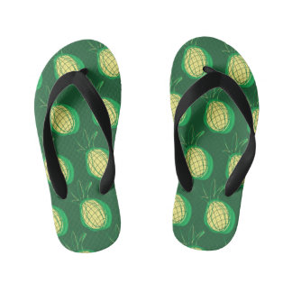 Funky pineapple kid's thongs