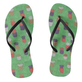 Funky Pineapple Pattern Flipflops Thongs