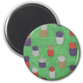 Funky Pineapple Print Magnet