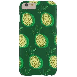 Funky pineapples on green background barely there iPhone 6 plus case