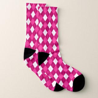Funky Pink Argyle Socks