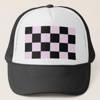 Funky Pink Black Blocks Trucker Hat