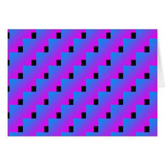 Funky Pink Blue Zig Zag 4Lorenzo Card