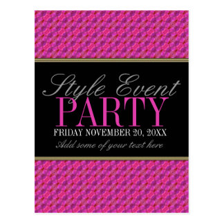 Funky Pink Pattern Office Party Invitation Cards Postcard