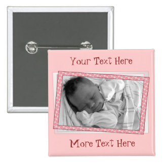 Funky Pink Polkadot Frame Button