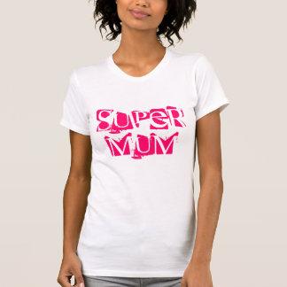 funky pink Super Mum tee