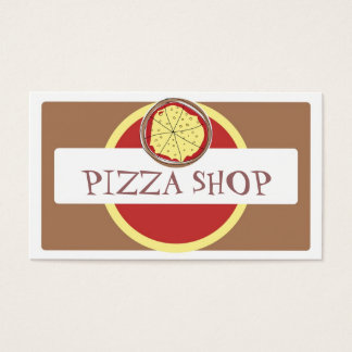 Funky pizza shop bright business cards
