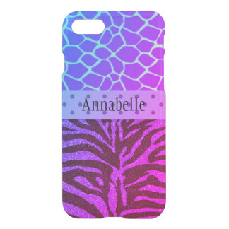 Funky Plum Animal Print I Phone Case