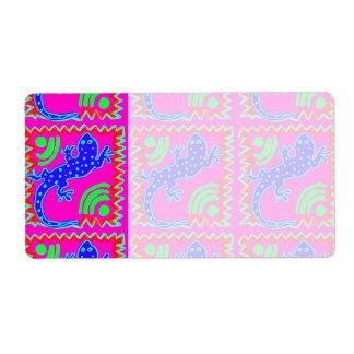 Funky Polka Dot Lizard Pattern Animal Designs