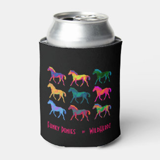 Funky Ponies Colt Pattern WildHerdz Can Cozy Can Cooler