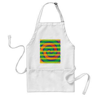 Funky Primary Colors Swirls Chevron ZigZags Design Adult Apron