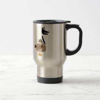 Funky Primitive Art Goose Travel Mug