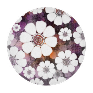 Funky Purple Flower Power Cutting Board