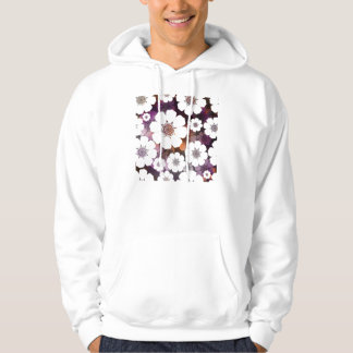 Funky Purple Flower Power Hoodie