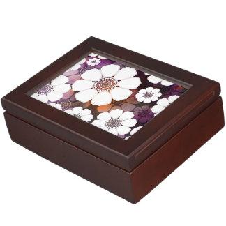 Funky Purple Flower Power Keepsake Box