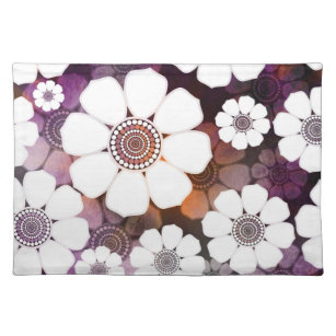 Funky Purple Flower Power Placemat