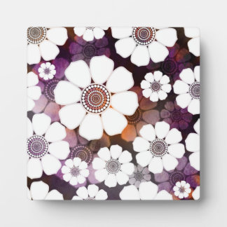 Funky Purple Flower Power Plaque