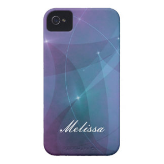 Funky Purple Glow with Name Blackberry Phone Case Blackberry Bold Covers