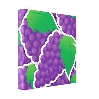 Funky purple grapes canvas print